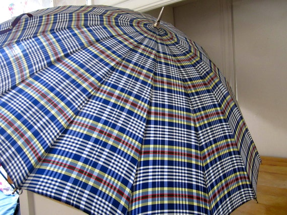 A Vintage Plaid Umbrella