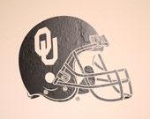 OU Football Helmet - Wall Decal - University of Oklahoma