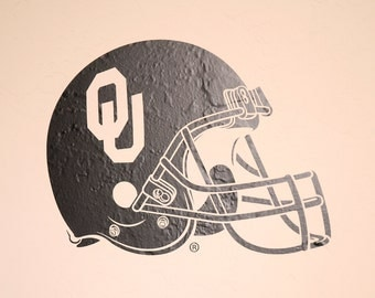 OU Football Helmet - Wall Decal - University of Oklahoma