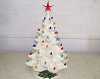 "18"" Nowell Ceramic Christmas Tree"
