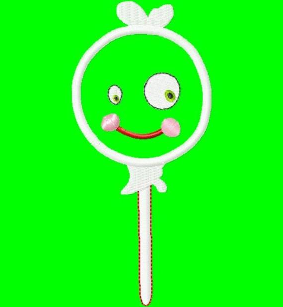 Halloween Lollipop - Ghost - Applique - Machine Embroidery Design - 5 Sizes