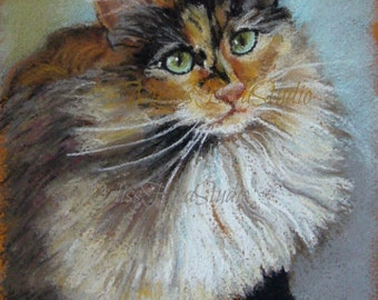 "Custom Pet Portrait - Pastel Drawing 5"" x 7"" - Unique Gift for Pet Lovers, Christmas or Holiday Gift"