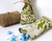 Green Damask Favor Bag