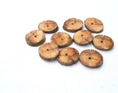 """Wood buttons for accessory making - set of 10 - 1"""" 2.5cm - wood tags, gift tags"""