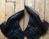 Levi's leather black boots size 10