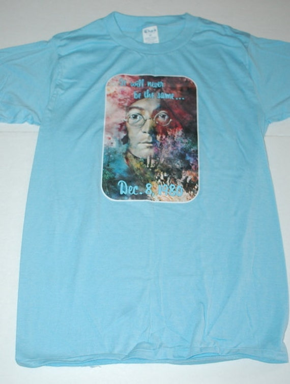 Vintage John Lennon T-Shirt Made In USA It Will Never Be The Same 1980 Beatles
