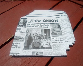 Upcycled/Recycled Envelopes - The Onion Archives (5 PACK)