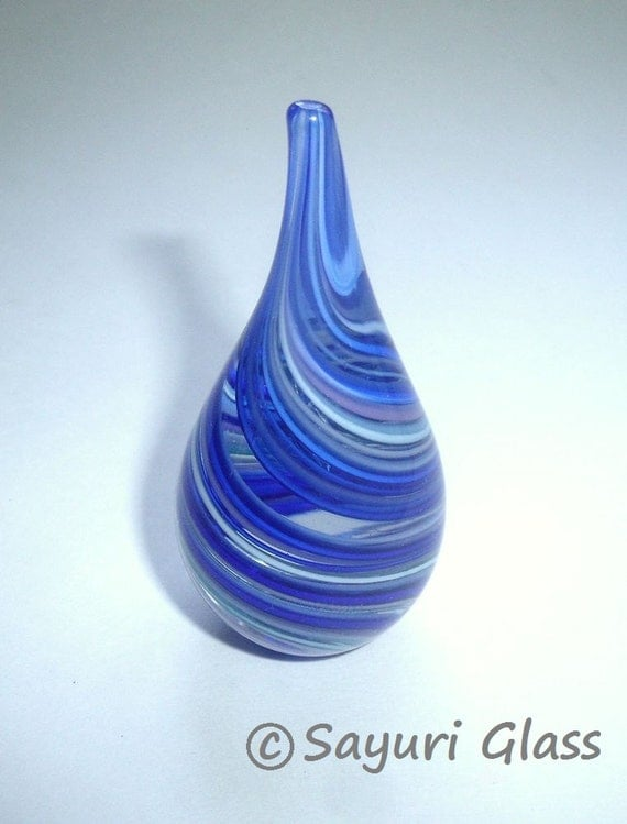 Paperweight / Ring Holder - Assorted Blue Swirl :  DISASTER RELIEF