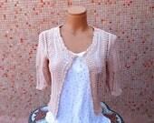 Hand knitted bolero Jacket Free shipping