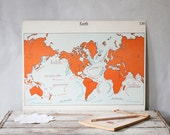 Vintage Double-Sided School Poster, Earth