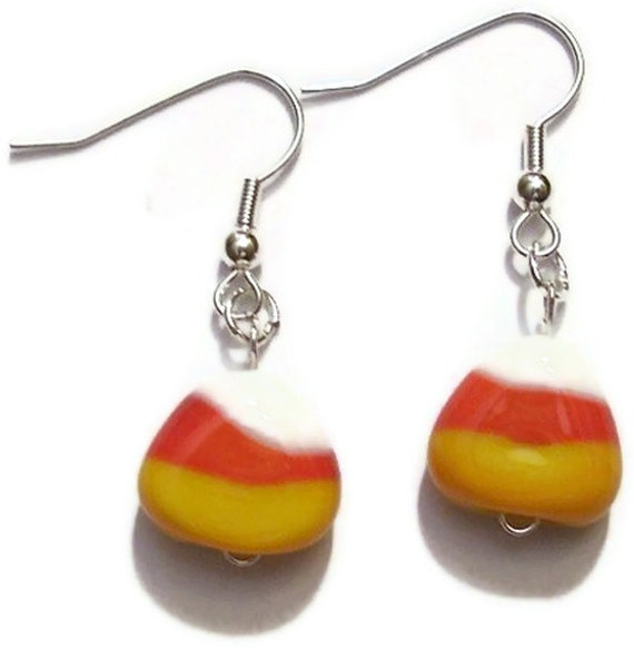 Halloween Candy Corn Earrings