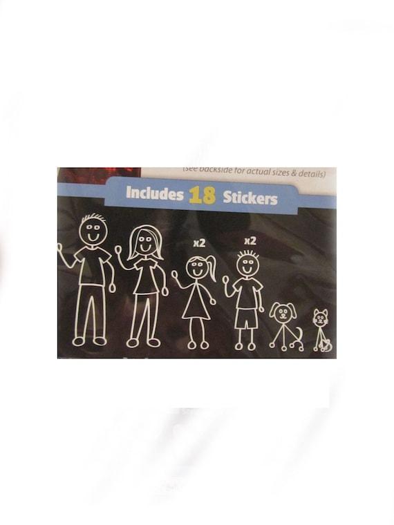 50% OFF SALE Family Car Stick Figure Decals
