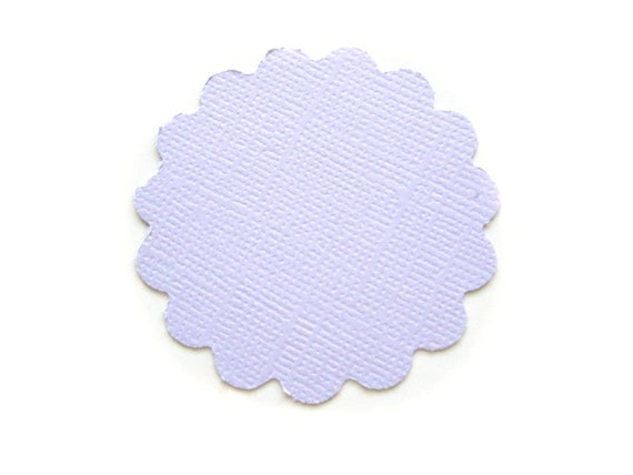 CLEARANCE SALE Lilac Scallops Scalloped Round Textured Die Cut Tags 2 inch - Set of 25