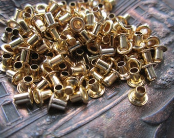 Raw Brass Rivets 72 pcs. U.S. Made