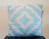 SALE 20% OFF Gray & Light Blue  Pillow