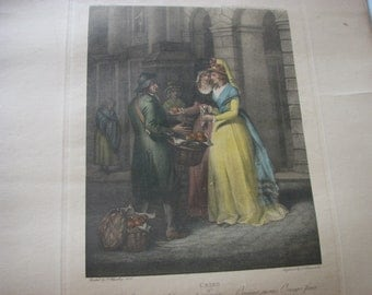 1790's , Sweet China Oranges , The Cries of London , English Engraving