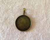 2 Piece 25MM Antiqued Bronze Round Bezel Pendant Charm Setting Jewelry Findings A1423