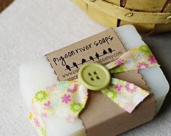 Bare -  Unscented Soap  - Mild Handmade Vegan Soap Bar - Fragrance Free Soap - Natural Cold Process Soap -  Unscented Bar Soap