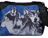 Wolves Large Messenger Bag by Salvador Kitti  - From My Original Painting, Spirited Pack