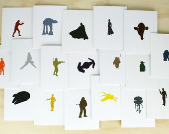 Star Wars Letterpress Cards - Set of 18