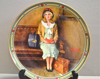 "Norman Rockwell Collectors Plate Rockwell's American Dream ""A Young Girl's Dream"""