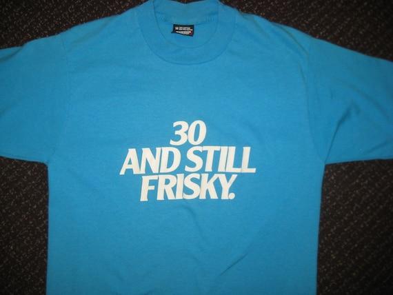 1980's Fiskies cat food t-shirt, What's got into that cat, medium