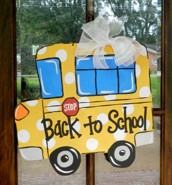 Back to School Bus Door Hanger