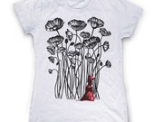 Ladies t-shirt Tshirt Womens tee  S M L XL XXL . Little Red