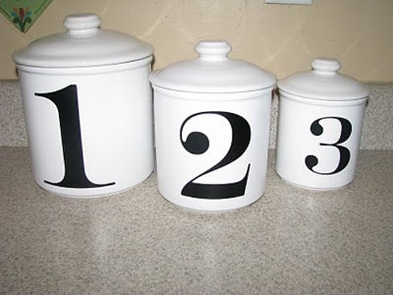Number Vinyl Decals