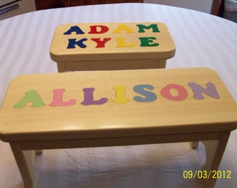 Personalized name stool hand made