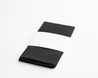 Pocket square, black