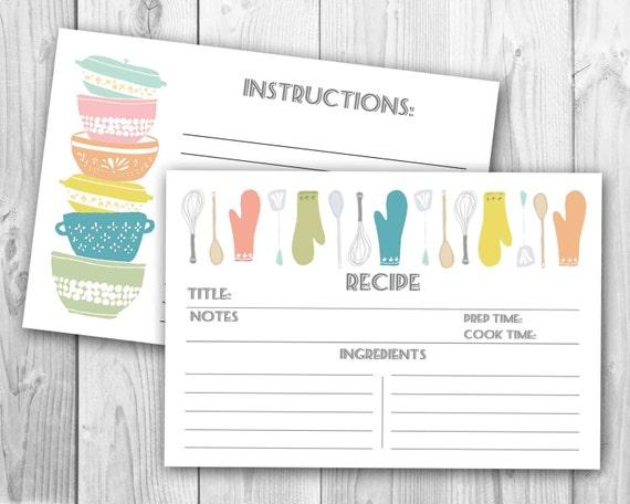 Modern Recipe Cards Modern Stackabowls Recipe