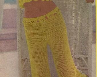 Riviera Pants Set Crochet Pattern 1970's PDF file