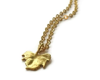Gold Leaf Necklace Chain Jewelry Charm Vermeil Jewellery Simple Everyday Dainty Chain Pendant Fall Thanksgiving Nature Charm N-317 318