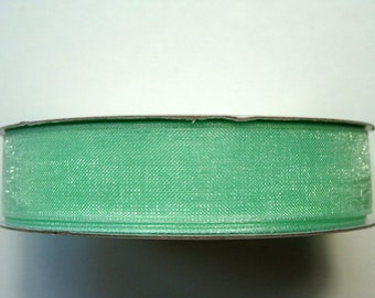 """5/8"""" Organza Ribbon - Mint - 25 yard spool"""