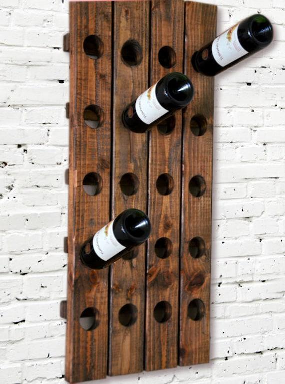 Wine Rack Riddling Rack Wood Wall Hanging