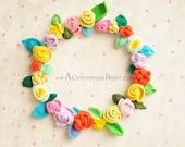 Blossom Crochet Wreath No.1
