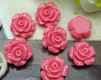 10 pcs---13 mm  Beautiful Rose Cabochon.Rose
