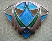 RESERVED Pat Cheney of Orkney Scottish Silver and Enamel Brooch