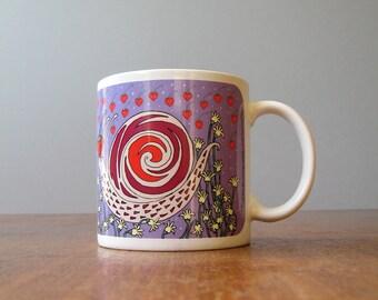 Vintage Taylor Ng Mug Classy Critters Strawberry Snail