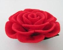 Rose Tutorial TIFFANY ROSE No Sew Felt Rose Pattern Rose Hairclip Headband Rose Brooch Pin Accessory PDF ePattern eBook Tutorial How To