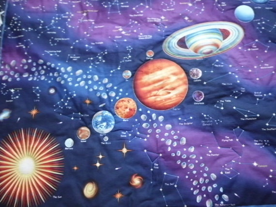 On hold for elizabeth panel only solar system night by for Solar system fabric panel