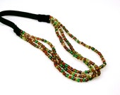 Three Strand Beaded Headband - Earth