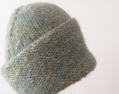 Hand Knit Cozy Knitted Bluish Cap