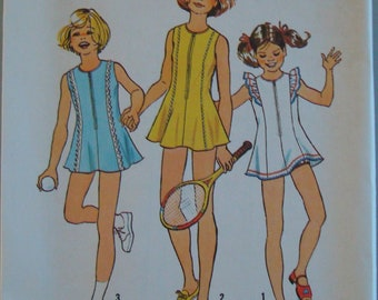 OOP Vintage Simplicity Sewing Pattern 6953 size 81/2-101/2 Child  Uncut