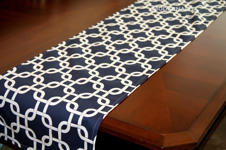 Navy Blue Bedside Table: CLEARANCE Navy Table Runner Navy Blue Gotcha Navy Nautical