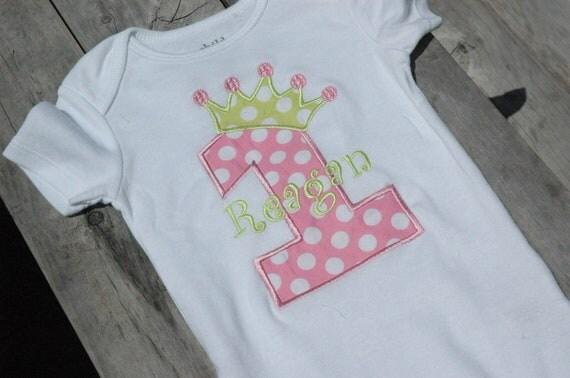 Birthday party applique onesie