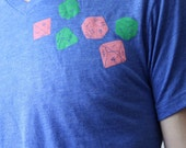 Dungeons And Dragons Dice // Polyhedra Tri-blend V-neck Tee Shirt