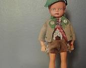 German Boy Doll Plastic Toy Lederhosen Octoberfest