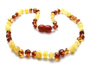 Baltic Amber Teething Necklace - Butter and Honey Trio Mix - Made in Canada